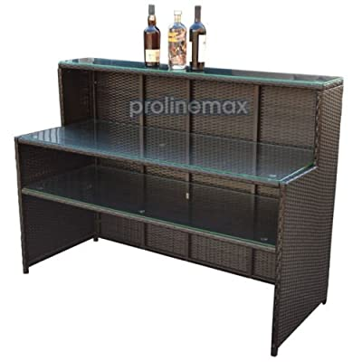 "WICKER Rattan Bar Restaurant Buffet Serving Table Dish Plate Storage Rack Cabinet 85.5""L x 23.5""W x 43.5""H"