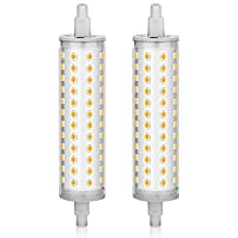 KINDEEP R7S LED 118mm, J Type T3 Halogen Bulb Replacement, 100W Equivalent, Warm White, 2-Pack