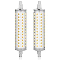KINDEEP R7S LED Bulb 118mm, 75W-100W Equivalent, AC120V, 4.65 Inches Double Ended R7S J118, Warm White 3000K, 2-Pack