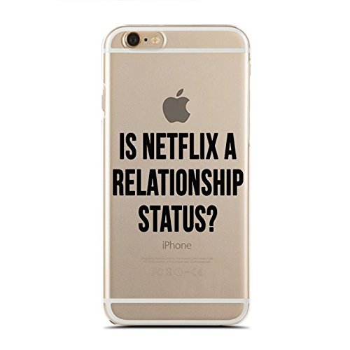 Clear Snap-On case - for iPhone 5/5S - Super Slim Case - Is Netflix A Relationship Status - Funny Love Quotes (C) Andre Gift Shop