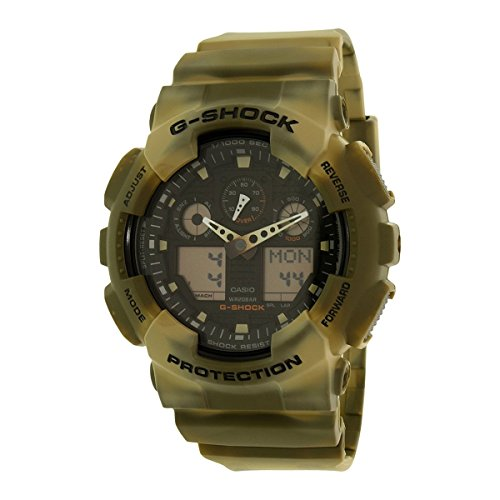 Casio G SHOCK CAMOUFLAGE Analog Digital GA 100MM 5A
