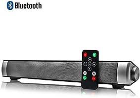 Barra de Sonido para TV PC Smartphones Música y Películas con Bluetooth 4.1, Inalámbrico y Alámbrico, Plata …