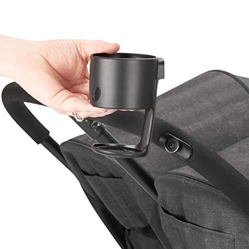 41 UGN542aL - Evenflo Aero2 Ultra-Lightweight Double Strollers, Compact, Self-Standing Folding Design, Shopping Basket Single-Child Mode, Seatback Storage Pocket, 2 Mesh In-Seat Pockets, 50-lb Per Seat, Osprey Gray