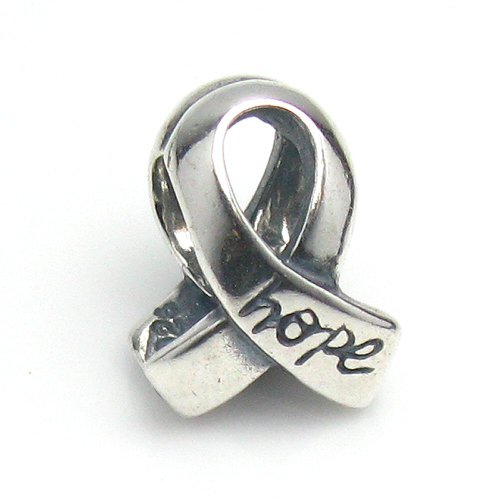 Cancer Sterling Ribbon Silver Breast - Dreambell 925 Sterling Silver Breast Cancer Ribbon Awareness W/Hope Bead For European Charm Bracelets