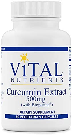 Vital Nutrients - Curcumin Extract with Bioperine - Nutritional Support for Normal Tissue Health - 60 Capsules per Bottle - 500 mg