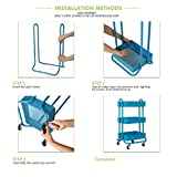 DESIGNA 3 Tier Metal Rolling Utility Storage Carts