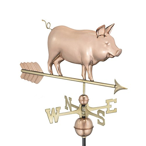 Good Directions 9550P Country Pig Weathervane - Copper