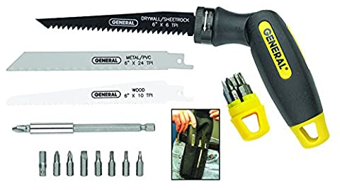 General Tools 86014 14 piece Quad Saw/Driver (Saws All Blade Handle)