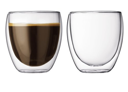 FLY SPRAY 2 Piece Double Wall Glass Cups 8.5oz Insulated Mugs Drinking Glasses Cups Set for Espresso Coffee Tea Milk Juice Latte Cappuccino Great Gifts for Father's Day by FLY SPRAY