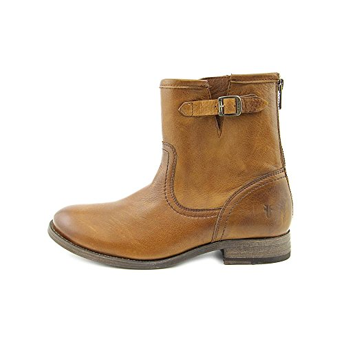 FRYE Womens Pippa Back Zip Short Boot Cognac DK1CY