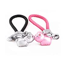 MILESI Magnetic Kissing Piggy Keychain Valentine's Love presente para parejas