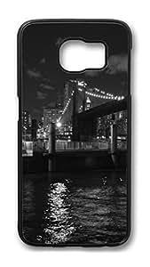Brian114 Case, S6 Case, Samsung Galaxy S6 Case Cover, Brooklyn Bridge New York 3 Retro Protective Hard PC Back Case for S6 ( Black )