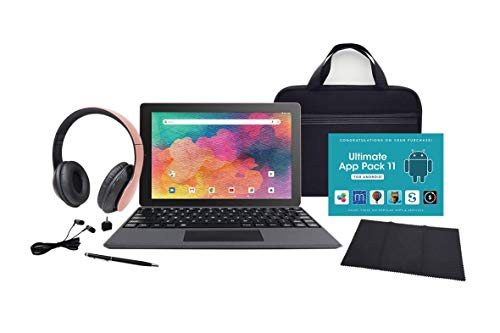 """RCA (RCT6T06E13T14) 10.1"""" Artemis (2-in-1) Tablet with Detachable Keyboard - Tablet Accessory Bundle Included - (32GB, Rose Gold)"""