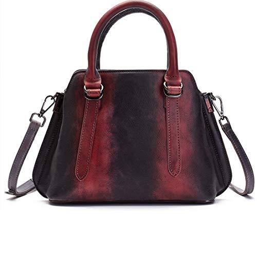 Top Satchels De Mujer Purses Black Bandolera Para Tote Vintage color Handle Houyazhan Cuero Black Bolso Handbag 0UqBCB