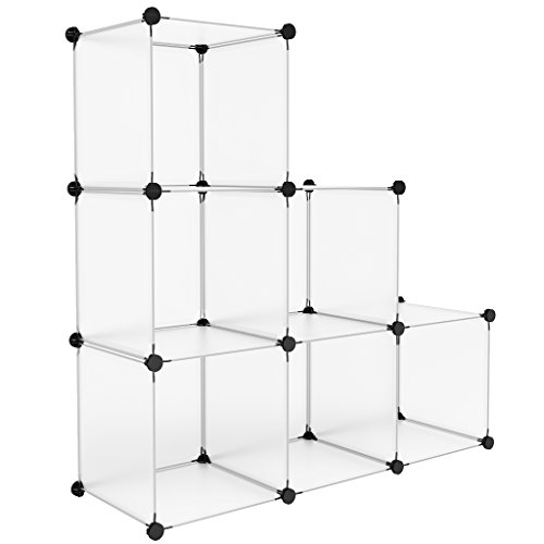 - LANGRIA 6-Cubes Storage Cubes Organizer, DIY Small Animal Cage for Rabbit, Guinea Pigs, Puppy Pet Products Portable Modular Organization System