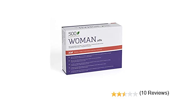 500Cosmetics Woman–Tabletas Naturales Para Aliviar los Síntomas de ...