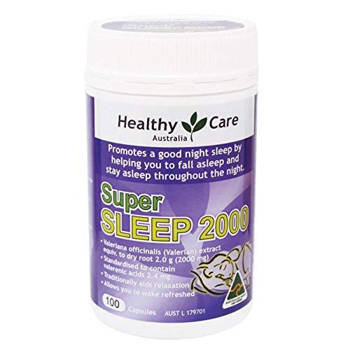 Healthy Care Super Sleep (Valerian 2000mg) 100 Capsules