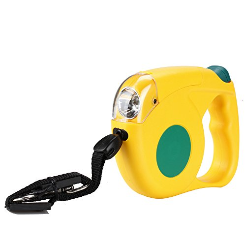 Flexzion Retractable Dog Leash Yellow