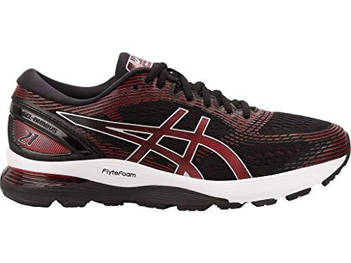 ASICS Men's Gel-Nimbus 21 Running Shoes, 9.5M, Black/Classic RED (Asics Gel Energy)