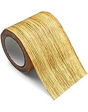 Hout Effect Adhensive Duct Tape Waterdicht Hout Effect Vloer Reparatie Tape Imitatie Houtnerf Duct Tape voor Meubelplint Reparatie (8 cm* 4.57 m) -Gouden Kameel