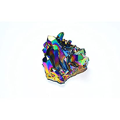 Rainbow Aura Titanium Coated Crystal Cluster Quartz