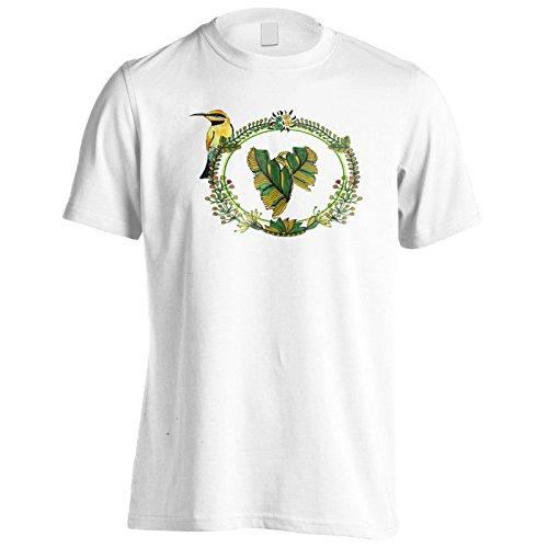 Neuer Blumenring Mit Vogel Herren T-Shirt l143m