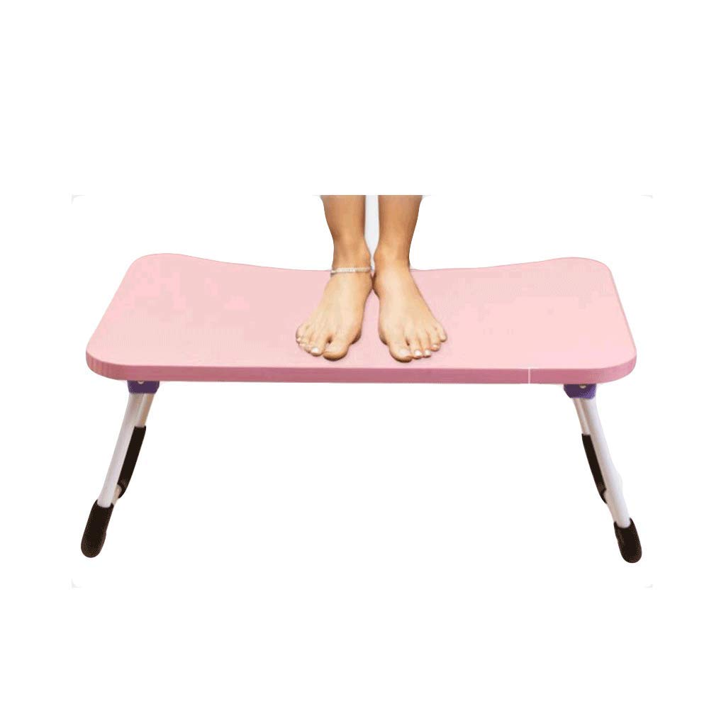 Pink Desks Folding Table Bedding, Computer, Foldable, Portable, Reading, Painting, Writing, Sofa, Floor, Outdoor, Balcony, Laptop Table,Bearing Weight 50Kg Rollsnownow (color   BLACK)