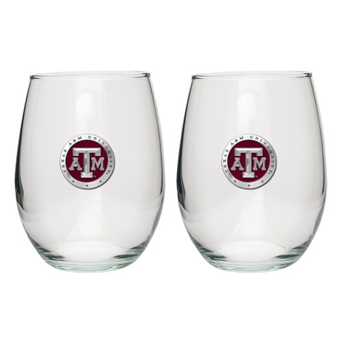 Aggies A&m Texas Water (Heritage Pewter Texas A&M Aggies Stemless Wine Glass (Set of 2))