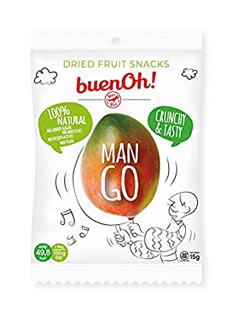 Mango deshidratado crujiente - Pack 18 x 15g - Sin azúcar ...