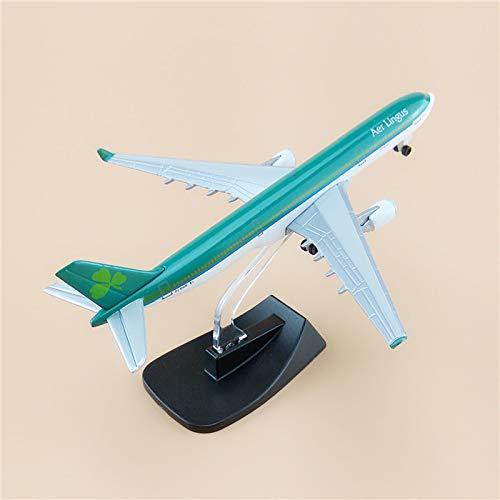GreenSun Alloy Metal Airplane Model Air AER Lingus Airbus 330 A330 Airlines Airways Plane Model W Stand Wheels Aircraft for Kids Gift