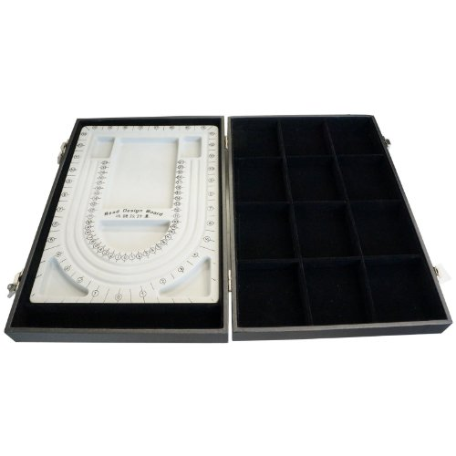 Black Bead Design Board Case Box w 12 Compartments for Beads n Jewelry Findings by Princess-J