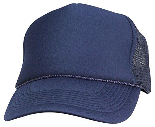 - 2 Pack Baseball Caps Blank Trucker Hats Summer Mesh Cap (2 FOR Price of 1) (Navy)