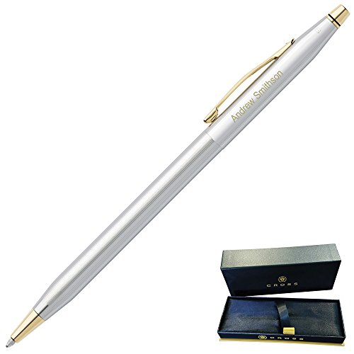 Dayspring Pens | Engraved/Personalized Cross Classic Century Medalist Ballpoint Pen, Chrome and 23 Karat Gold Plated Trim 3302. Custom Engraved Fast 1 day engraving time. by Dayspring Pens (Image #1)