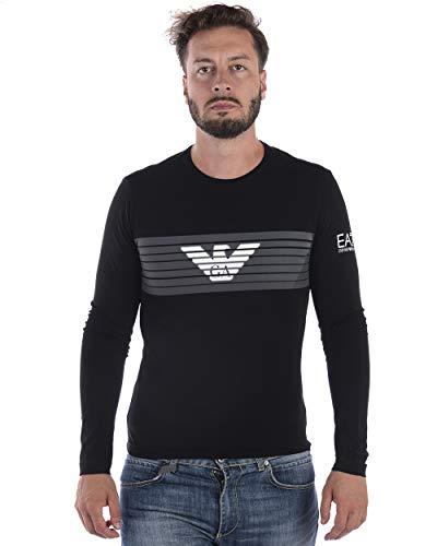 Manica Uomo T 1200 Emporio Shirt negro Nera Ea7 Lunga Armani tqvnUwH