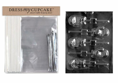 - Dress My Cupcake DMCBundle050 Chocolate Candy Lollipop Packaging Bundle with Mold, Boxing Glove Lollipop