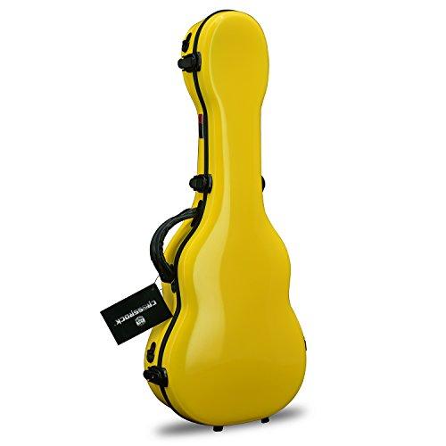 Crossrock CRF1000TUYL Fiberglass Ukulele Yellow