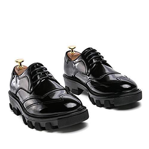 uomo scarpe Moda Amaranth Jiuyue Uomo britannico brogue verniciata rBaO5qwWa8