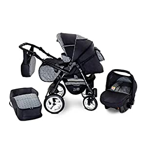 Baby Pram Zeo Rio 3in1 Set – All You Need! carrycot Gondola Buggy Pushchair car seat (R5)