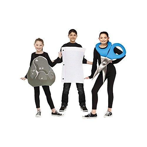 [Rock Paper Scissors Costume - One Size] (Scissors Paper Rock Costume)