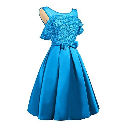 Spitze Abendkleider Blau Tanzenkleider Damen Linie Gold Cocktailkleider Kurzes A Mini Rock Charmant Heimkehr qgw6H1E71O