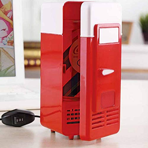 *m·kvfa* Car Office Supplies Mini Fridge USB Hot And Cold Dual-use Refrigerator For Home Office Car Dorm or Boat Plug and Play
