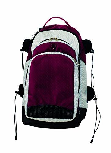 Martin Sports All Purpose Backpack, 600 Denier Nylon, Maroon/Silver (Backpack Denier 600)
