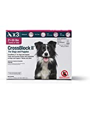 WIM Crossblock II pulga preventivo para Perros 21-55 Lbs. (3 Paquetes)