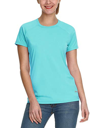Baleaf Women's UPF 50+ UV Sun Protection T-Shirt Outdoor Performance Short Sleeve Blue Size L