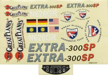 Great Planes Decal Sheet Extra 300SP .46-81 EP/GP ARF Vehicle Part