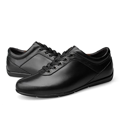 Minitoo Mens Rubber Sole Classic Daily Walking Shoes Black