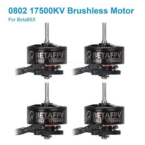 (BETAFPV 4pcs 0802 Motor 17500KV Brushless Motors FPV RC Brushless for 2S Micro Whoop FPV Drone Like Beta65X Beta65 Pro 2)