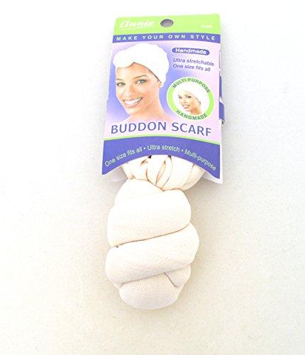 Annie Handmade Buddon Scarf (Ivory) (Annie Scarf)
