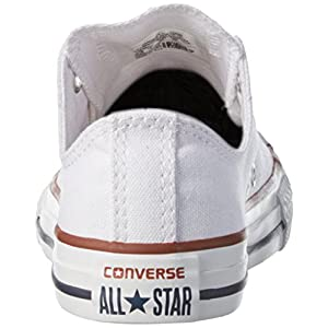 Converse Kid's Chuck Taylor All Star Low Top Shoe, optical white, 1 M US Little Kid