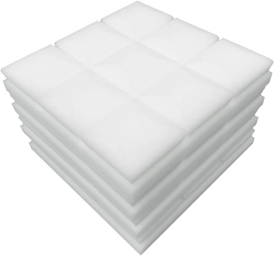TwoCC Accesorios para el hogar, 4 piezas Tablero de espuma acústica Insonorización Esponja Studio Ktv Insonorizado (Blanco)